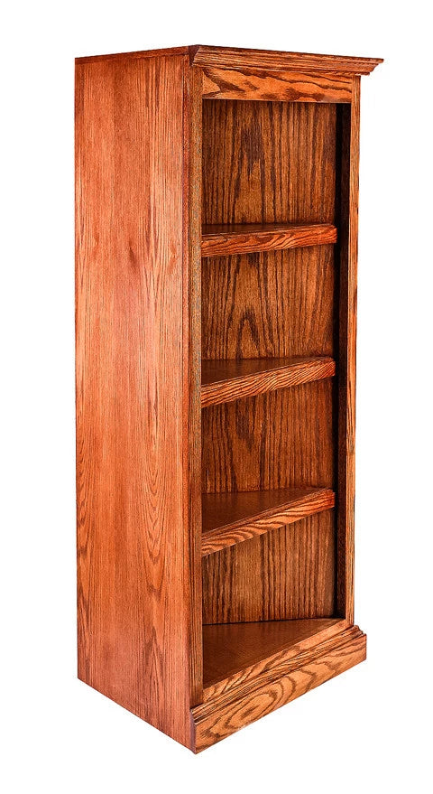 Forest Designs Traditional Oak Corner Bookcase: 27 x 27 x Height of Choice
