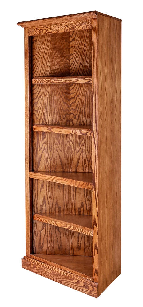 Forest Designs Mission Oak Corner Bookcase: 27 x 27 Choose your Height