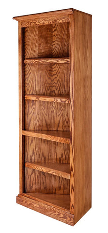 Forest Designs Mission Oak Corner Bookcase: 27 x 27 x Height of Choice