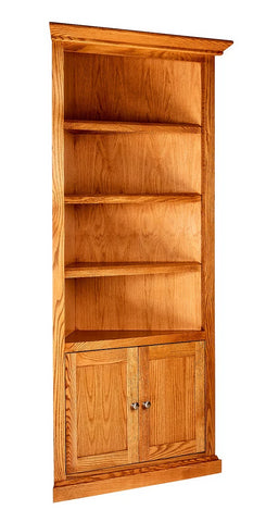 Forest Designs Mission Corner Bookcase: 27 x 27 x Height of Choice