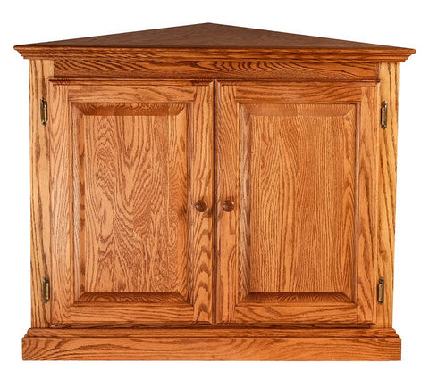 Forest Designs Traditional Corner Bookcase w/ Full Doors: 27 X 27 Choose Your Height (Wood Knobs)