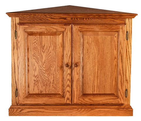 Forest Designs Traditional Corner Bookcase w/ Full Doors: 27 X 27 Choose Your Height (Antique Knobs)