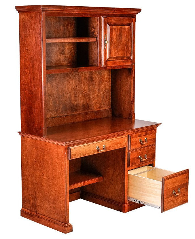 Forest Designs Traditional Alder Desk + Hutch (48w x 72h)