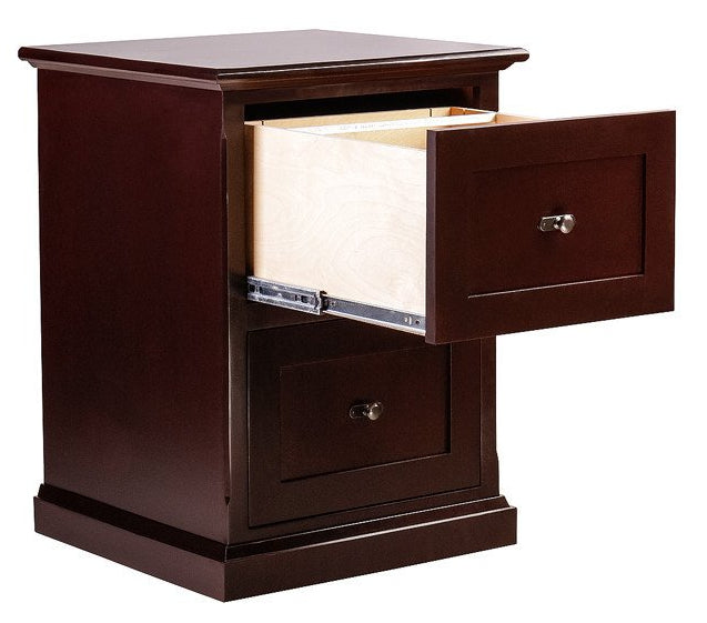 Forest Designs Mission Alder Two Drawer File: 22W x 30H x 21D