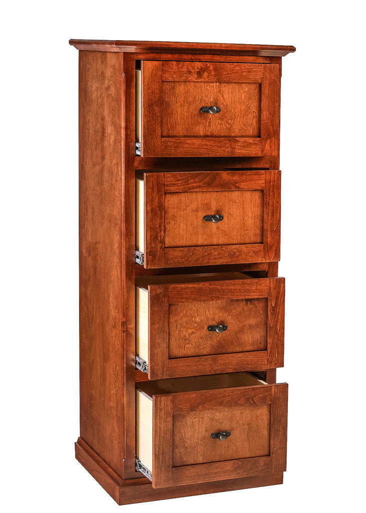 Forest Designs Traditional Alder 4 Drawer File (22W x 56H x 21D)