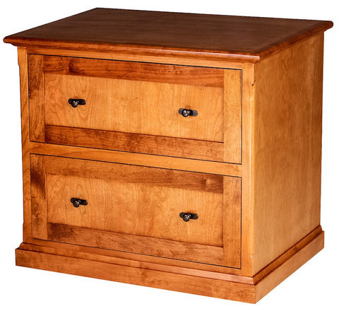 Nice Forest Designs Mission Alder Lateral File: 35W X 30H X 24D (Silver Knobs)