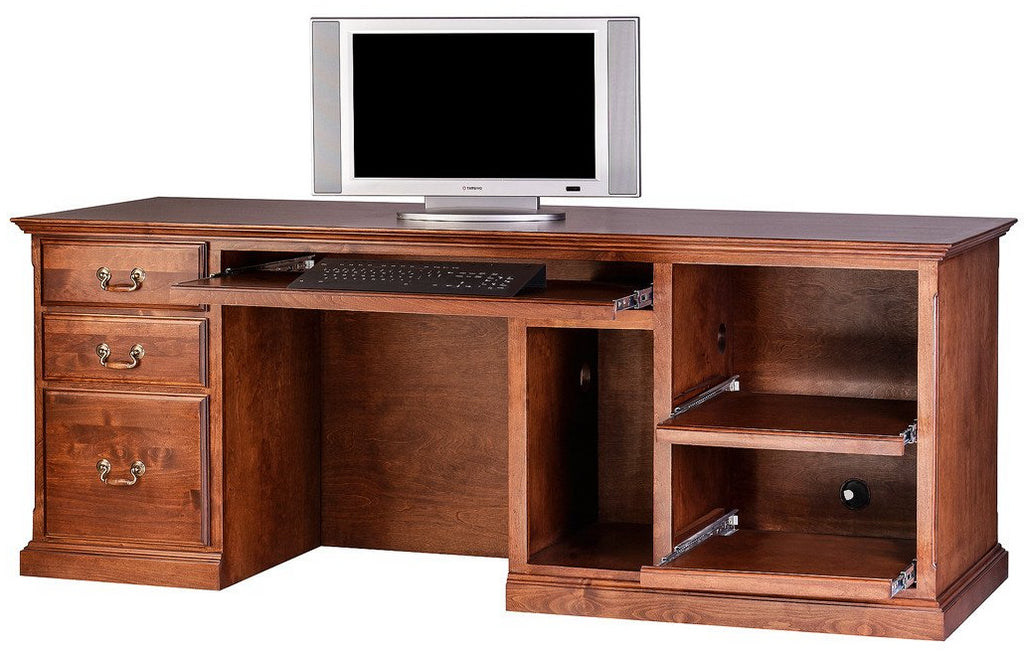 Forest Designs Traditional Alder Computer Desk (78W x 30H x 28D)