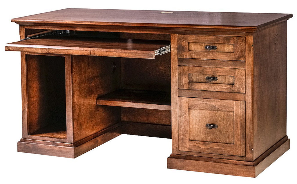 Forest Designs Mission Alder Desk (56W x 30H x 24D)
