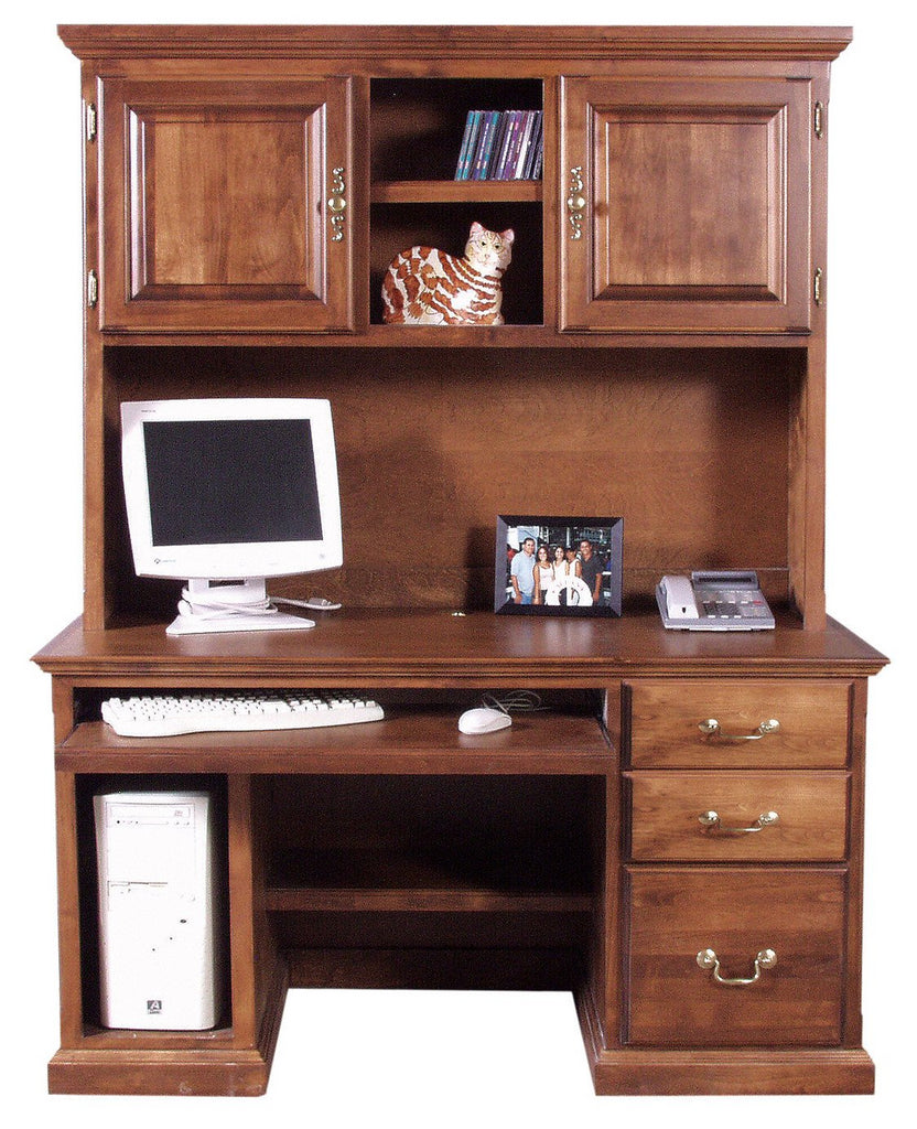 Forest Designs Traditional Desk + Hutch