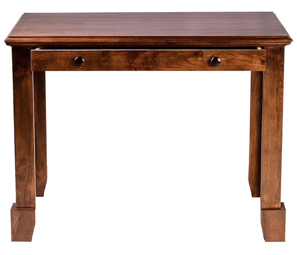 Forest Designs Shaker Alder Writing Table w/Drawers: 42W x 30H x 24D