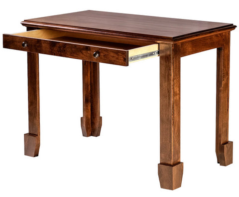 Forest Designs Shaker Alder Writing Table w/Drawers: 42W x 30H x 24D (Black Knobs)