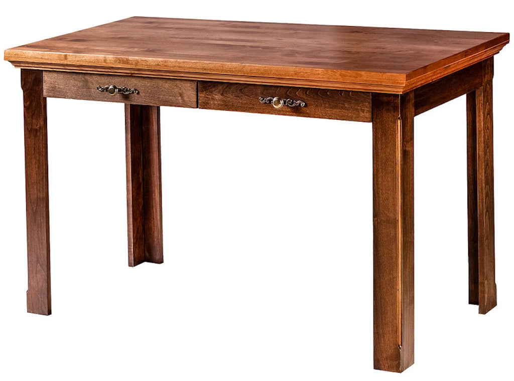 Forest Designs Traditional Alder Writing Table w/Drawers: 48W x 30H x 24D