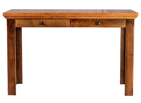 Forest Designs Traditional Alder Writing Table w/ Drawers: 48W X 30H X 24D (Black Knobs)