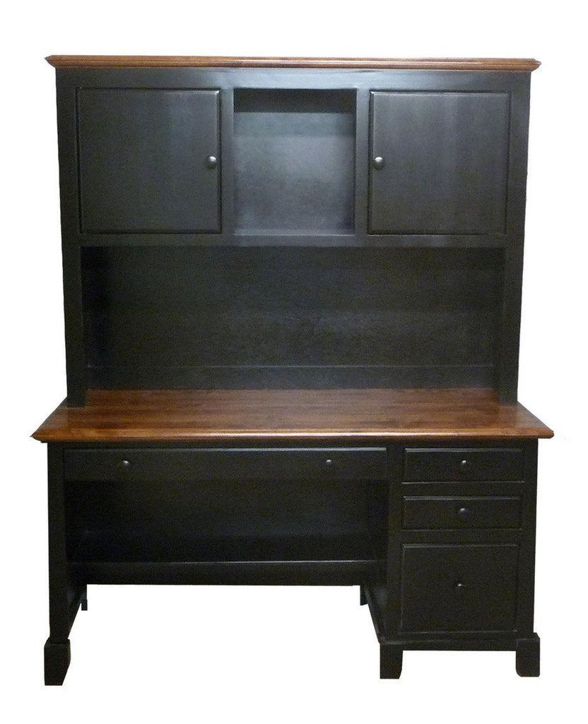 Forest Designs Two Tone Shaker Desk & Hutch