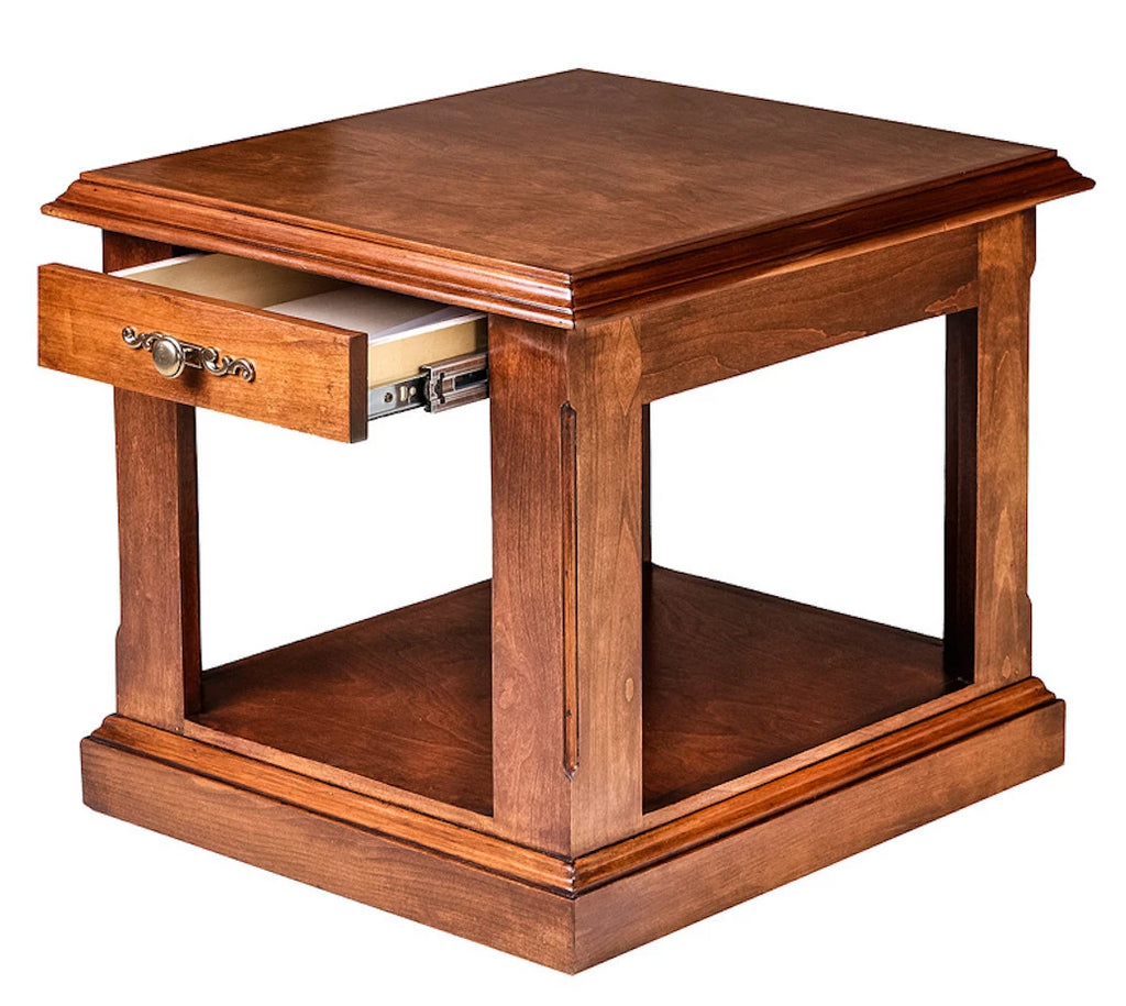 Forest Designs Traditional Alder End Table: 21W X 20H X 24D