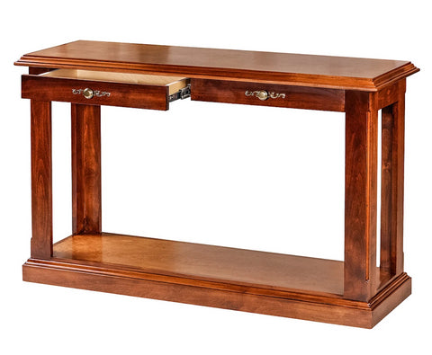 Forest Designs Traditional Antique Alder Sofa Table: 48W x 30H x 17D