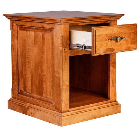 Forest Designs Traditional Alder End Table w/Raised Panel Sides: 20W x 25H x 24D
