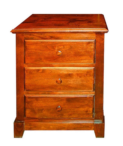 Forest Designs Shaker Three Drawer Nightstand in Auburn: 25W x 30H x 18D