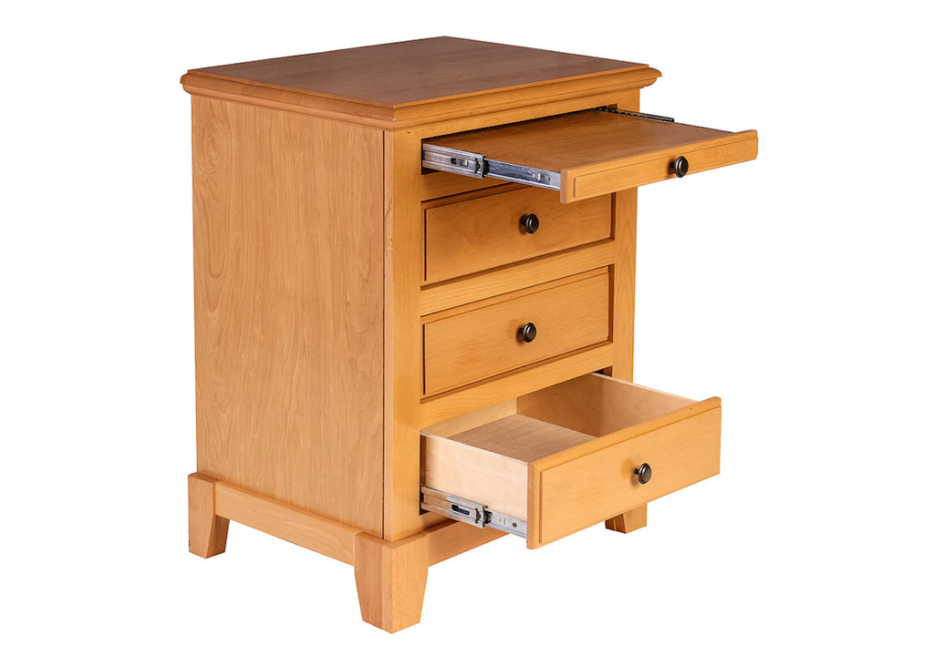 Forest Designs Shaker Three Drawer Nightstand w/ Pullout Tray: 25W X 30H X 18D