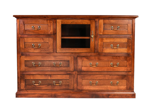 Forest Designs Mission Alder Entertainment Chest: 60W x 41H x 18D