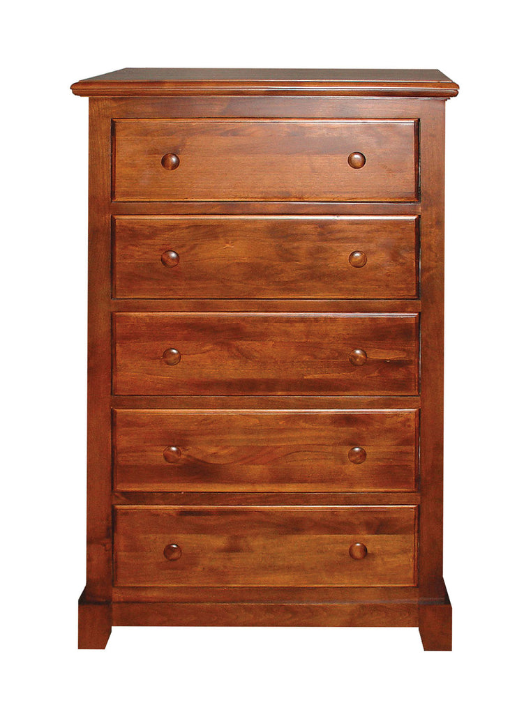 Forest Designs Shaker Five Drawer Chest in Antique: 34W x 48H x 18D