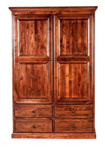 Forest Designs Traditional Wardrobe (48W x 72H x 21D) (Black Knobs)