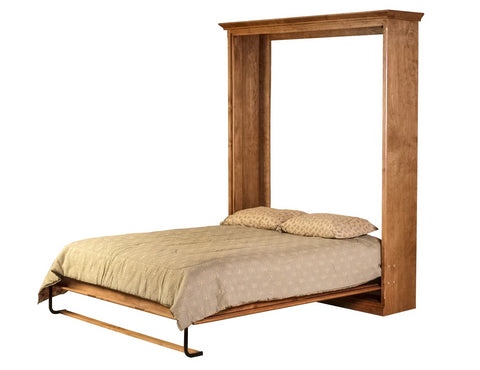 Forest Designs Cottage Murphy Bed (Shown in Queen in Open Position) : 73W X 92H X 15D/ Bed Extends 89 From Wall