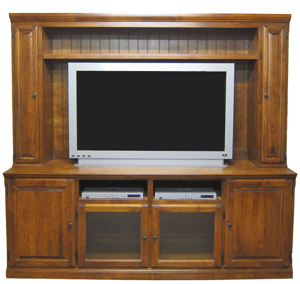 Forest Designs Traditional TV Stand & Hutch