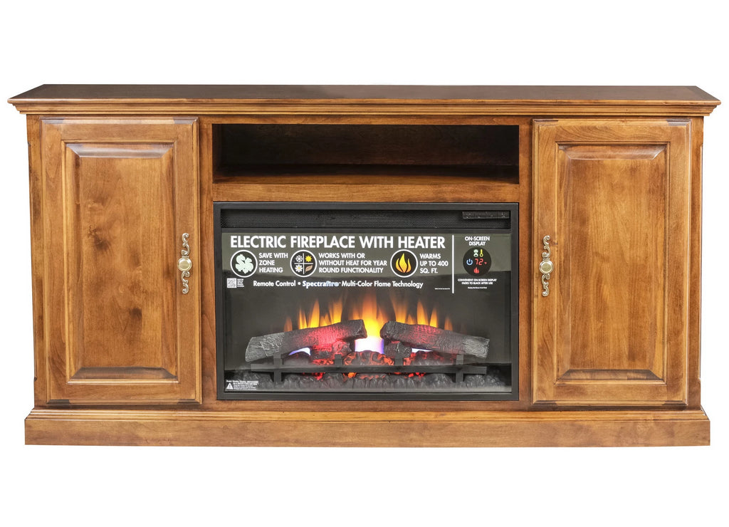Forest Designs Traditional Alder Fireplace: 60W x 30H x 18D (size shown)