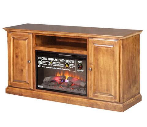 Forest Designs Traditional Alder Fireplace: 60W X 30H X 18D (Black Knobs)