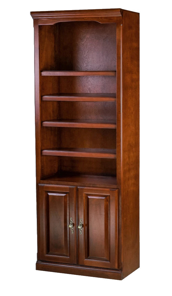 Traditional Bookcase w/Lower Doors (30W x 84H x 13D)