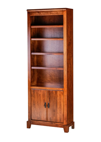 Forest Designs Shaker Alder Bookcase: 30W X 13D Choose Your Height w/ 30H Lower Doors
