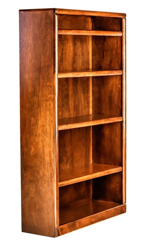 Forest Designs Bullnose Alder Bookcase: 36W x 13D x Height of Choice