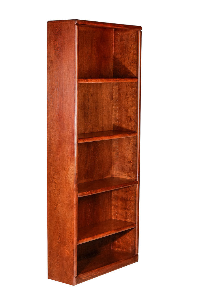 Forest Designs Bullnose Alder Bookcase (36W x 13D x Height of Choice)