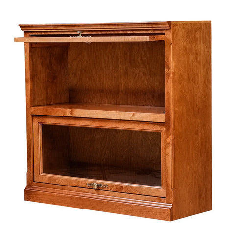 Forest Designs Traditional Alder Lawyer Bookcase: 36W X 13D Choose Your Height