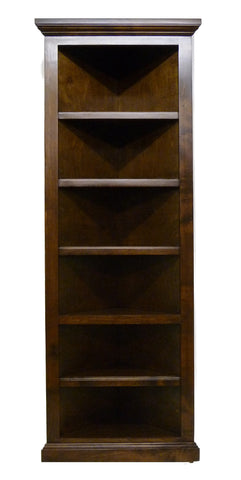 Forest Designs Traditional Corner Bookcase: 20 x 20 x Height of Choice