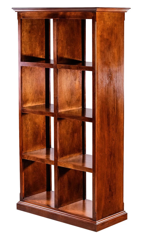 Forest Designs Traditional Alder Display Bookacse: 32W x 67H x 17D