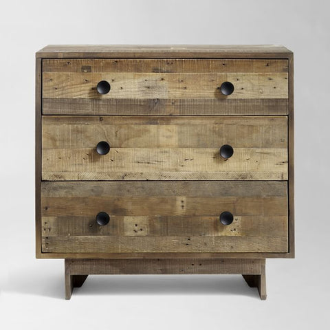 Reclaimed Wood 3-Drawer Dresser