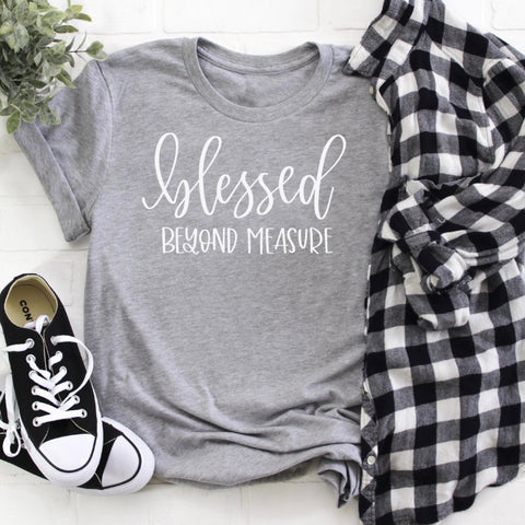 blessed beyond measure grey crew www.karlastorey.com