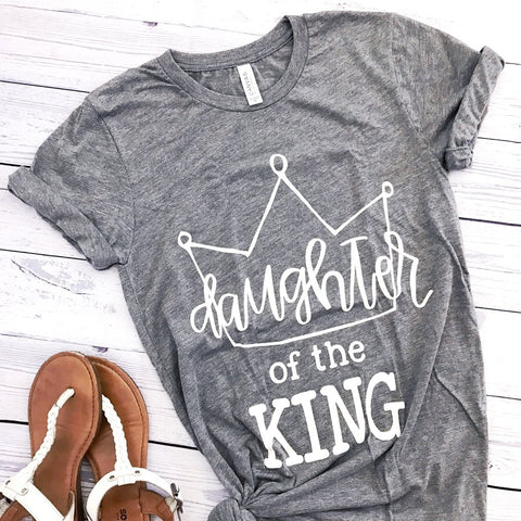 daughter of the king grey tee www.karlastorey.com