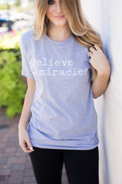 believe in miracles grey tee www.karlastorey.com