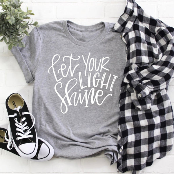 let your light shine grey crew tee www.karlastorey.com