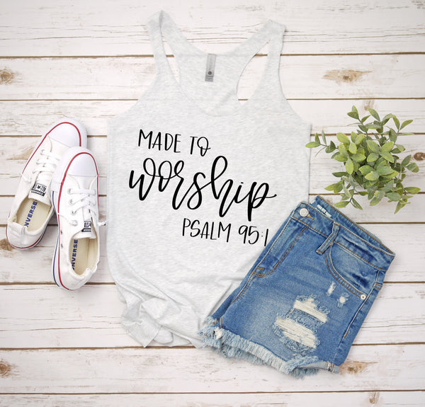 made to worship white tank www.karlastorey.com