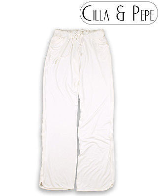 Slouch Fit Relaxed Jersey Pants Cream