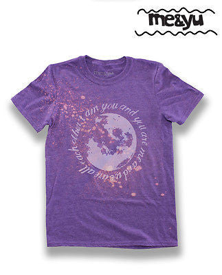 Moon & Stars Illustration Soft Marl T-Shirt