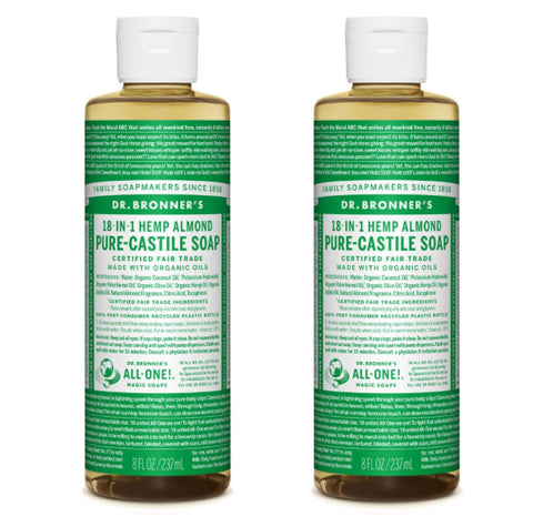 Pure-Castile Liquid Soap Almond 2x237ml