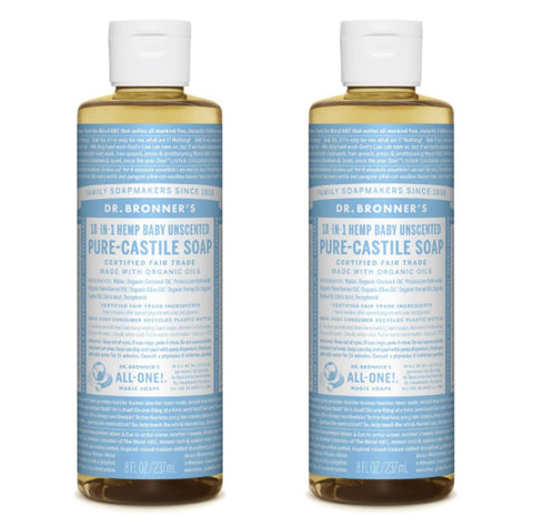 Pure-Castile Liquid Soap Baby Mild 2x237ml