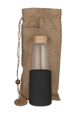 850ml Glass Water Bottle Basalt_Black