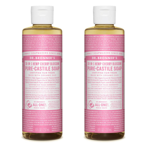 Pure-Castile Liquid Soap Cherry Blossom 2x237ml