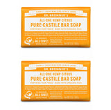 Pure-Castile Hemp Bar Soap Citrus Orange x 2